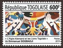 Togo 2019 German Eagle And Togolese Lion Artist Painting Sogbadji Development Cooperation Mint - Modern