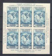 U.S.A. 1934 BF  (Yvert.3) **MNH / VF - Blocchi & Foglietti