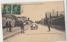 59-DOUANE - France-Belgique - Arrêt D'Automobile - Obstacle / HERSE ++++ Phot. Delsart,  +++ 1914 ++++ RARE - France