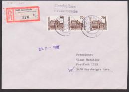 Germany Dresden Semperoper 30 Pfg (3) DDR 3348 MeF R-Brief Leinefelde, Duderstadt Aus Portogründen Im VGO Aufgegeben - Covers