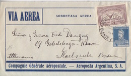 "N° 303, PA 14 Obl. Buenos-Aires Serv. Aerspostal Le 31Oct30 Pour L'Allemagne,""Via Aerea"" (vol Transatlantique) - Argentina"