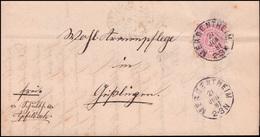 Württemberg 46a Ziffer EF Brief Schultheissenamt Apfelbach MERGENTHEIM 21.6.81 - Wuerttemberg