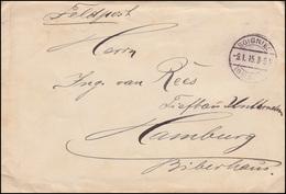 Feldpost BS 2. Landsturm-Inf.-Bataillon Hamburg Brief SOIGNIES (BELGIEN) 9.1.15 - Besetzungen 1914-18