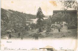 AK Landschaft Auf Aland, Stempel Godby 1912 - Finlandia