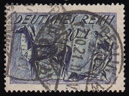 176a Freimarke Pflüger 20 M Wz 1 Gestempelt O Geprüft - Allemagne