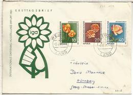 ALEMANIA DDR FLORES IGA FLOWER - Vegetales
