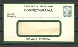 MEXICO Postal Stationery Cover Correograma 30 C. Unused - Mexiko