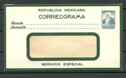 MEXICO Postal Stationery Cover Correograma 30 C. Unused - Messico