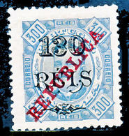 !■■■■■ds■■ Angola 1915 AF#187* REPUBLICA K.Carlos 130/300 12,5 (x2837) - Angola