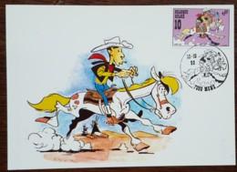 Belgique - CM 1990 - YT N°2390 - Philatélie De La Jeunesse / Lucky Luke - Maximumkaarten