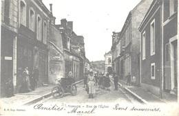 72 - VIBRAYE - Rue De L'Eglise Animée - Tricycle - Dos Simple - Circulé 1903 - - Vibraye