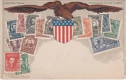 Philatelie Litho AK United States Of America USA Etats Unis Amerique Vereinigte Staaten Amerika Briefmarke Stamp Timbre - Stamps (pictures)