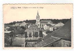 Redu  L'Eglise Et Le Centre Du Village  (met Sterstempel) - Libin