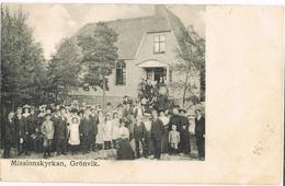 AK Grönvik/Öland, Missionskyrkan - Stempel Kumlinge/Aland 1912 - Suède
