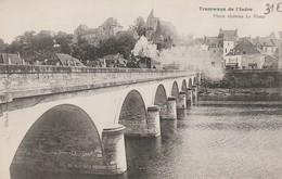 Tramways De L'Indre Vieux Chateau Le Blanc RARE - Le Blanc
