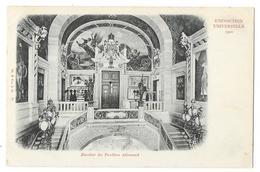 Cpa: 75 PARIS Exposition UnIverselle 1900 - Escalier Du Pavillon Allemand  (précurseur)  N° 77 - Expositions