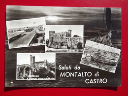 Q863 CARTOLINA  SALUTI Da MONTALTO DI CASTRO  VITERBO  VIAGGIATA -  VEDUTINE - Viterbo