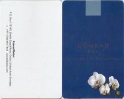Conrad Dubai - 277----key Card, Room Key, Schlusselkarte, Hotelkarte - Cartas De Hotels