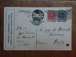 REGNO - Comunicate Ai Corrispondenti... - Cartolina Bucata + Spese Postali - 1900-44 Vittorio Emanuele III