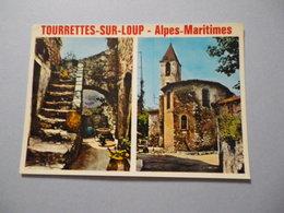 CPSM 06 - ALPES MARITIMES - TOURRETTES SUR LOUP - MULTI VUES - Sonstige Gemeinden