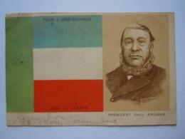 TRANSVAAL - Président Paul KRÜGER - Pour L'Indépendance Pour La Liberté Circulée 1900 De Paris à Denderleeuw Coin Pli - Figuren
