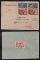 REUNION / 2 LETTRES POUR LA FRANCE (ref 5793) - Isola Di Rèunion (1852-1975)