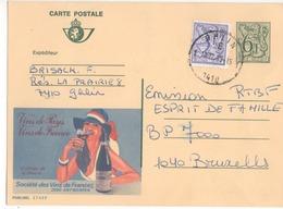 Publibel - 2749 F - VINS DE FRANCE - ANTWERPEN - GHLIN - 1985 - Publibels