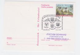 Jumelage: Austria Postal Stationary 1989 Mödling Europäische Partnerstädte Mödling Puteaux Offenbach/M Esch - Other