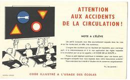 BUVARD Ou Protège Cartonné VITTEL   Attention Aux Accidents De La Circulation  ( 3 Volets ) - Enfants