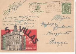 Publibel - 221 - 5 VILLAS - AGENCE LEVY - FLAMME VISIT OSTEND - BRUGGE - 1936. - Publibels