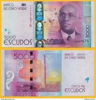Cape Verde 5000 Escudos P-75 2014 UNC Banknote - Kaapverdische Eilanden