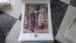 """Affiche Philatélique 43 Cm X 61 Cm Reproduction  D'un Tableau D'Auguste Renoir  """"la Balançoire"""" - FDC"""