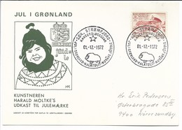 Christmas In Greenland. Used 1972.  B-3300 - Groenland