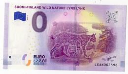 2019-4 BILLET TOURISTIQUE FINLANDE 0 EURO SOUVENIR N°LEAN002598 LYNX - EURO