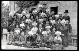 CPA-PHOTO ANCIENNE- FRANCE- LES AUBIERS (79)- UNE NOCE A LA FETE DES AUBIERS- GROUPE DES ENFANTS- COSTUMES ET COIFFES - Francia