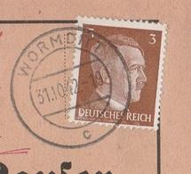 Ostpreussen Deutsches Reich Karte Mit Tagesstempel Wormditt Kr Braunsberg RB Königsberg 1942 - Briefe U. Dokumente