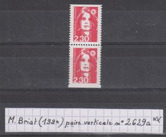France Marianne De Briat (1990) Y/T Paire Verticale P2629a Neuve ** Issue Du Carnet 2629-C1 - 1989-96 Marianne (Zweihunderjahrfeier)