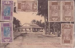 GUINÉE FRANÇAISE CONAKRY BOULEVARD CIRCULAIRE AVEC DES TIMBRES TRES AMINÉES EN BON ÉTAT - Guinée Française