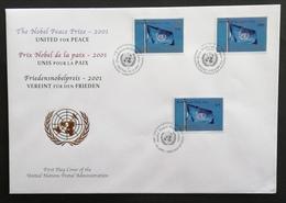 United Nations N.Y.2001 F.D.C. Trio     POSTAGE FEE EXTRA - New York -  VN Hauptquartier