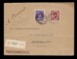 Képi 317 + 322 + Verso 276 + 277 +315 / Lsc Rec. Obl. Imprimés De Bruxelles 4 IX 1931=> Springfield ( Voir Description ) - Belgique