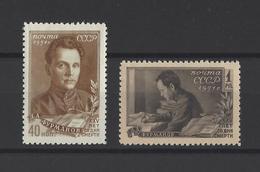 RUSSIE.  YT  N° 1538/1539  Neuf *  1951 - Unused Stamps