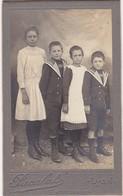 Photo. C.D.V. : 4 Enfants En Pose - Style Les Daltons : - Photo - PACALET- Lyon - - Photos