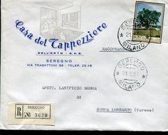 "Italia (1966) - 170 Lire ""Flora"" Su Raccomandata Da Seregno (MI) - 1946-.. République"