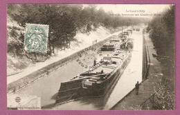 Cpa Le Canal A Billy - Sortie Du Souterrain Vers Conde Sur Marne - Peniche - éditeur Guerin - France