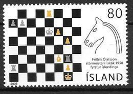 Islande 2008 N°1138 Neuf** Joueur D'échec Fridrik Olafson - 1944-... Repubblica