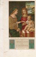 SACRA LEGA EUCARISTICA MILANO - DIPINTO DI B. LUINO - FORMATO PICCOLO - VIAGGIATA 1921 - (rif. S29) - Paintings, Stained Glasses & Statues