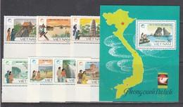 Vietnam 1988 - Tourisme Au Vietnam, Mi-Nr. 1906/12+Block 60, Dent., MNH** - Vietnam