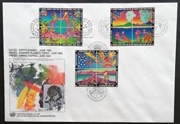 United Nations N.Y. 1992 F.D.C. Trio     POSTAGE FEE EXTRA - New York -  VN Hauptquartier