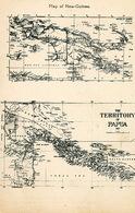 Map Of Papua New Guinea . Carte Geographique Nouvelle Guinée. Missions Sacré Coeur Issoudun. - Papua New Guinea