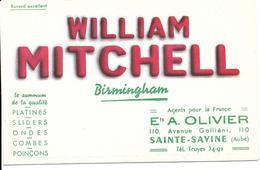 BUVARD  WILLIAM MITCHELL  Ets A. Olivier SAINTE-SAVINE (Aube ) - Buvards, Protège-cahiers Illustrés